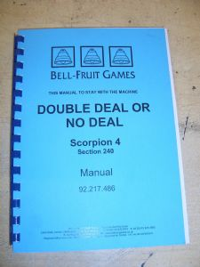 Double Deal or no Deal - Scorpion 4 Fruit Machine Manual